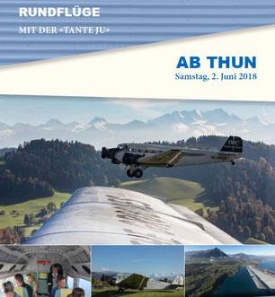 Freitag, 26. Mai 2018 - Rundflüge ab Thun und Überflug Dübendorf-Thun/Thun-Dübendorf