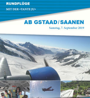 Samstag, 7. September 2019 - Rundflüge ab Gstaad / Saanen