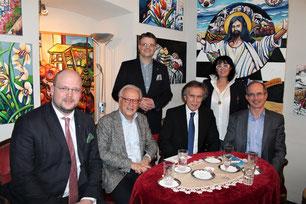 Philipp Jauernik, Hannes Swoboda, Matthias Laurenz Gräff, Emil Brix, Georgia Kazantzidu und Emil Frey