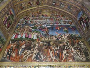 Darstellung der Hölle in der armenischen Vank Kathedrale in Isfahan