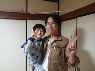甥っ子とピース(^^)