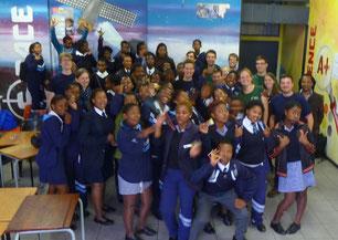 Eine 10te Klasse einer Township-Schule in der Nähe von Kapstadt