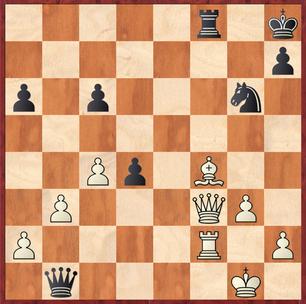 Milde - Vaccargiu: Schon fast tragisch griff Mathias hier mit 37.Kg2?? fehl und erlaubte Schwarz mit Sxf4+! die Partie für sich zu entscheiden