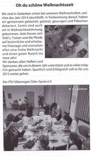 """""""Odervorland Kurier"""", Januar-Ausgabe 2015"""