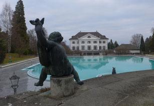 Schloss Eugensberg heute; Sicht von Süden