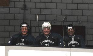 Mit meinen Hockey-Kameraden der Seedorf Pinguins, v.l.n.r.: Andreas Ruchti und Jochen Bähr.