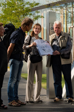 Felicitas Konecny, Architectural Tours Vienna, bei einer Stadtführung mit Gästen