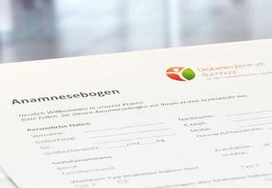 Anamnesebogen, erster Besuch im Diabeteszentrum Buchholz, Download