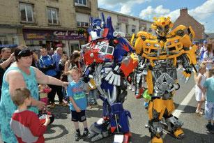 transformers , carnaval , animation , corso , parade
