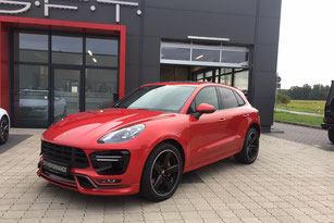 Porsche Macan Turbo in 3M Dragonfire Red