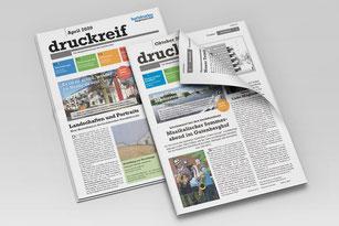 Mitgliederzeitung druckreif, Baugenossenschaft der Buchdrucker