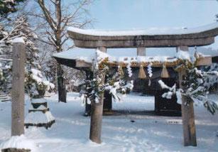 米子八幡神社参道
