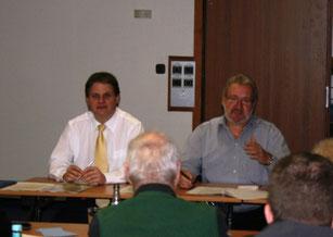 Ralf Witzel und Hans-Peter Schöneweiß leiten die Programmdebatte.