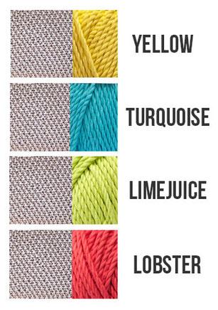 Cooles Kissen Strickset in neuen Farben von Wooltwist!