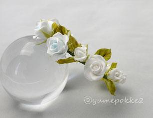 クレイフラワー 花冠 ミニ ウェディング