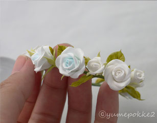クレイフラワー 花冠 ウェディング