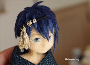 羊毛フェルト 刀剣乱舞 三日月宗近 人形