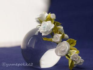 クレイフラワー ウェディング ミニ 花冠