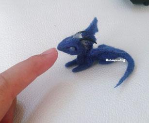 羊毛フェルト 小さい ドラゴン ミニ