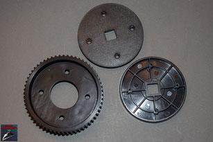 Build your own R2-D2 Drei Komponenten des rechten Laufrads  (Kunststoff)