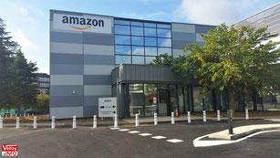 L'entrée d'Amazon Logistics au 3 rue Marcel Dassault à Vélizy.