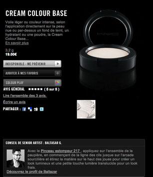 creme couleur base MAC