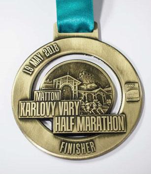 Halbmarathon Finishermedaille mit 8,5cm im Durchmesser