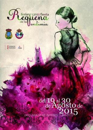 Feria y Fiestas de la Vendimia en Requena 2015 Cartel y Programa