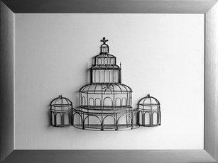 Miniatur Dom mit Rahmen 45cm x 35cm