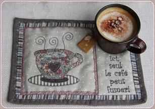 Madame Marie, Aus meinem Atelier, Mug Rug