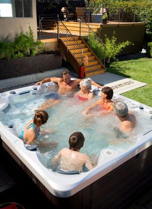 CalderaSpas bain à remous spas dans le jardin