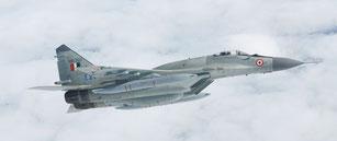 "L'Indian Air Force riceve i primi MiG-29UPG ""Baaz"" aggiornati da HAL."