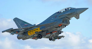 "L'Eurofighter Typhoon lancia il primo ""Storm Shadow""."
