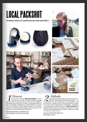 Nathalie Chapuy Le Héron Graveur dans Mix Magazine Strasbourgeois