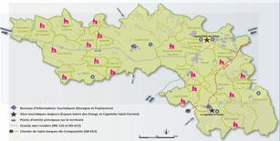 Communauté de communes Sor et Agout, Carte touristique, office de tourisme Puylaurens et Dourgne, Office de tourisme Terres d'Autan Montagne Noire
