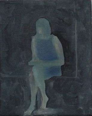 Am Fenster 3, Öl/Leinwand, 30 x 24 cm, 2018
