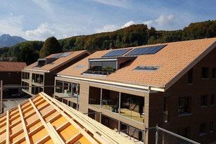 Referenz einer thermischen Solaranlage von Solar hoch 2