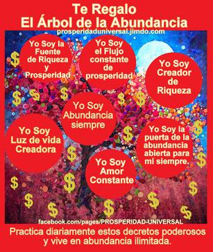 TE REGALO EL ARBOL DE LA ABUNDANCIA - PROSPERIDAD UNIVERSAL