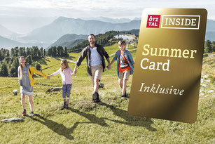 premium card, ötztal inside   summer card