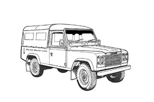 Defender 110 Malbuch, Defender 110 Soft top Colorring