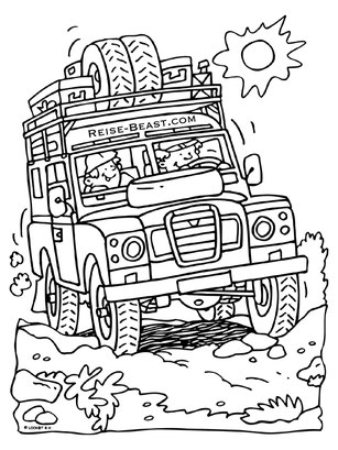 Overland Malbuch, Overland Colorring, Coloring Book, Coloring Page