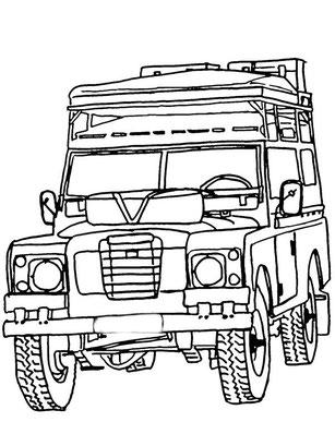 Land Rover Serie III Malbuch, Serie Malbuch, Land Rover Colorring,