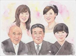 似顔絵 結婚式1