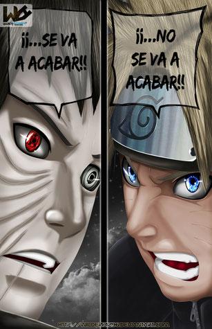 El Mundo no se acabara (ilustración del Mmanga de Naruto Shippuden))