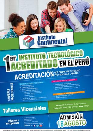 Afiche Publicitario para Instituto Continental