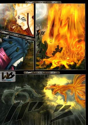 Naruto Vs. Madara (Ilustración del Mmanga de Naruto Shippuden))