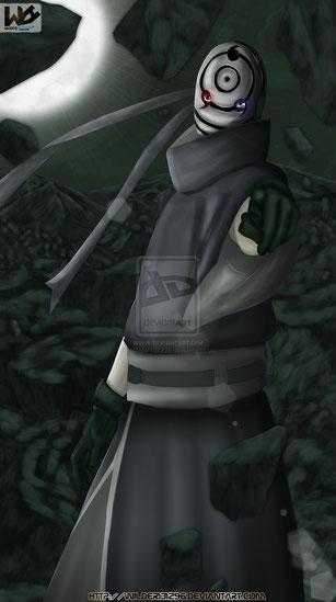 Obito Uchiha (Ilustración del Manga de Naruto Shippuden)