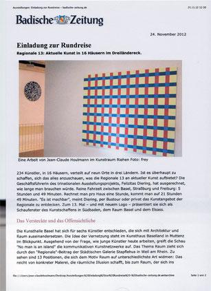 Foto exhibition Kunstraum JC HOULMANN