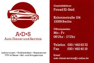 ADS Auto Dienst und Service