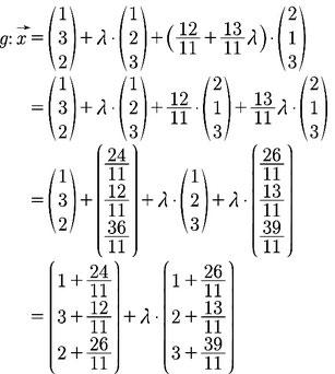 Ausführlicher Rechenweg zur Berechnung der Lage von zwei Ebenen